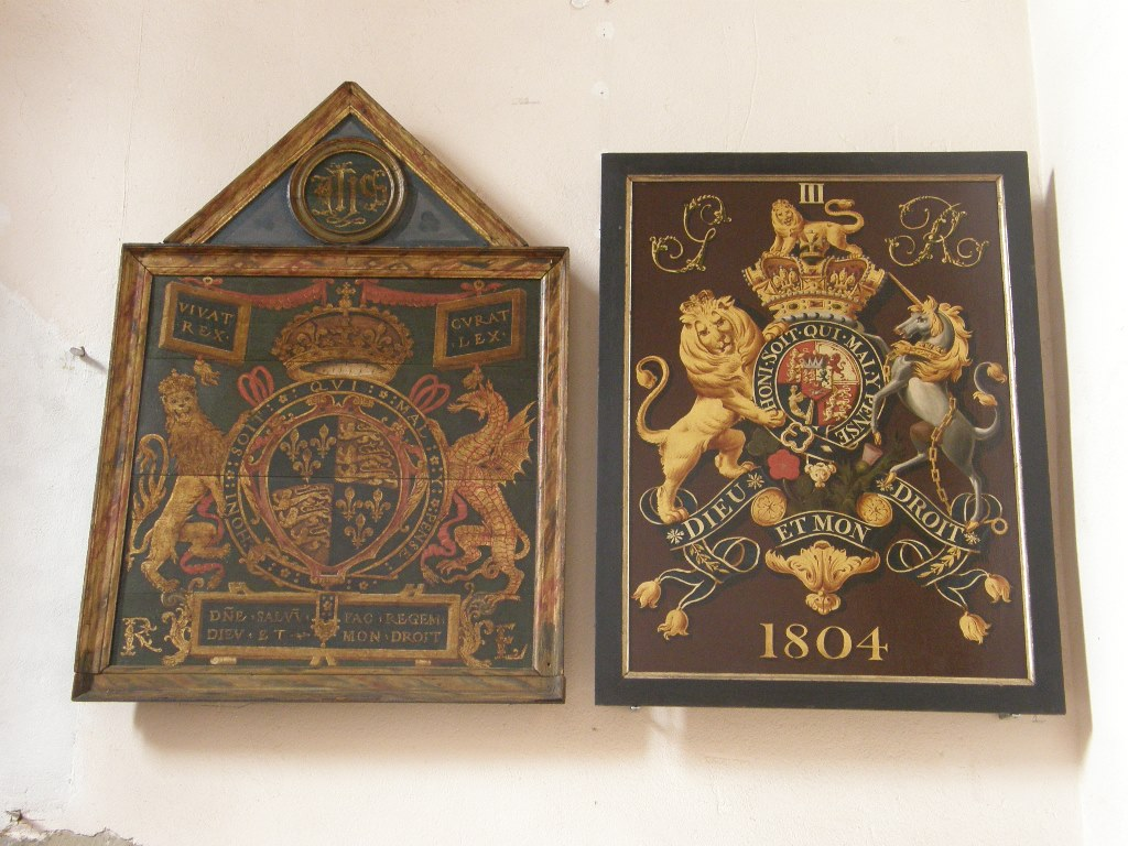 Restored Royal Coats of Arms